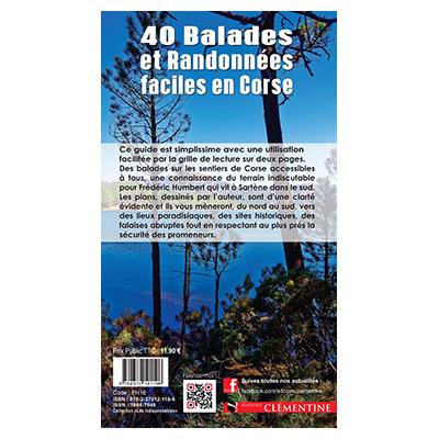 40 Balades et Randonnées faciles en Corse - Frédéric HUMBERT - François BALESTRIERE verso