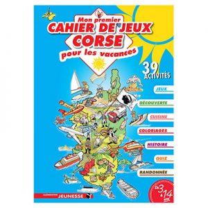 Mon premier cahier de jeux corse pour les vacances-3 à 14 ans recto