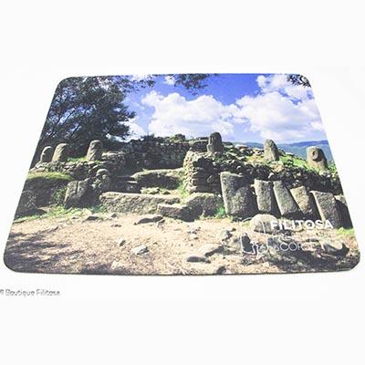 Tapis de souris Monument central de Filitosa rectangulaire souple